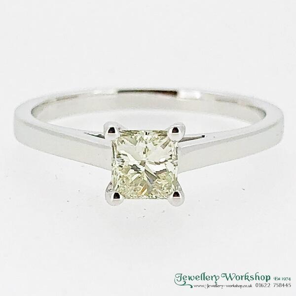 00c14159ecf87 0.50ct Princes Cut Diamond Ring